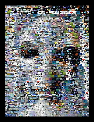 Poster featuring the mixed media Alien Ufo Mosaic by Paul Van Scott
