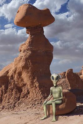 Alien Vacation - Goblin State Park Utah Poster by Mike McGlothlen
