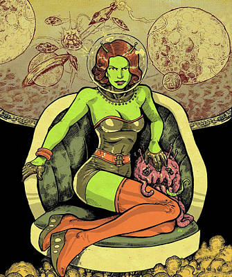 Alien Woman Poster by Long Shot
