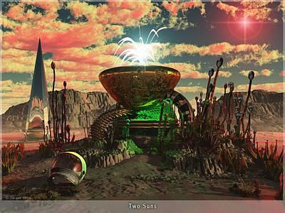 Alien World 2 Poster by Jim Coe