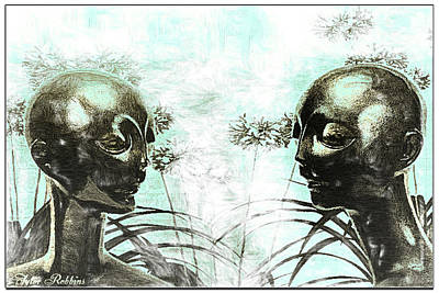 Aliens In My Garden Poster by Tyler Robbins