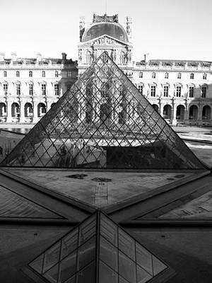 Aligned Pyramids At The Louvre Poster