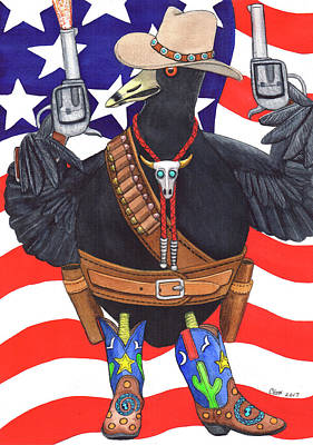 All American, Rootin' Tootin' Shootin' Coot Poster by Catherine G McElroy