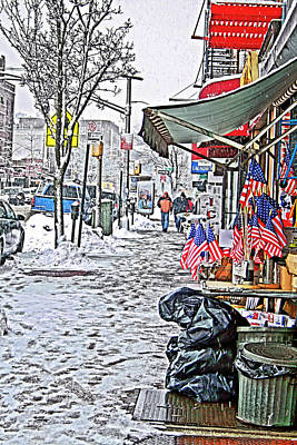 Poster featuring the photograph All American Snow by Terry Cork