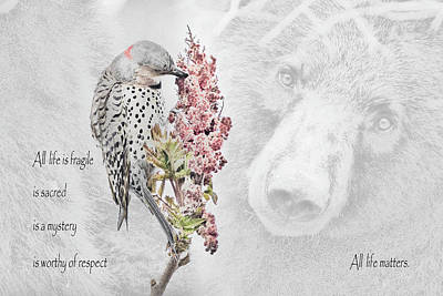 All Life Matters Poster by Everet Regal