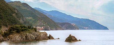 All Of Cinque Terre Italy Poster by Joan Carroll