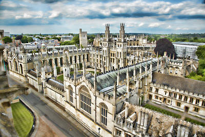All Souls College - Oxford Poster by Stephen Stookey