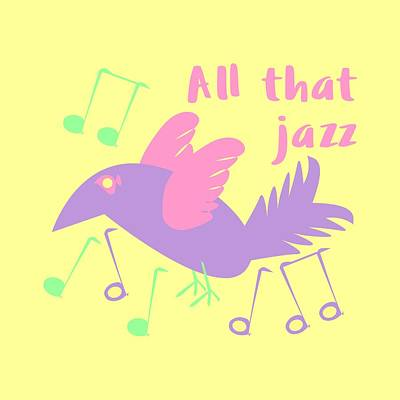 All That Jazz Poster by Geckojoy Gecko Books
