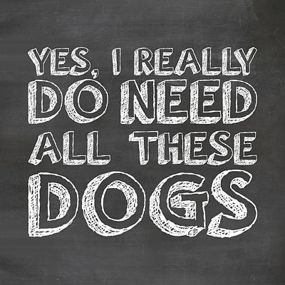 All These Dogs Poster by Nancy Ingersoll