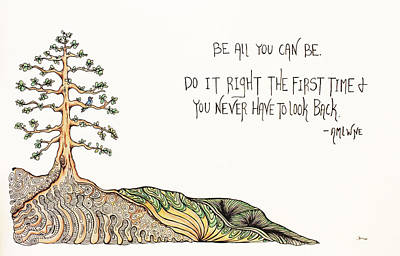 All You Can Be. Poster by Kelly Morgan