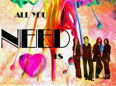 All You Need Is Love Poster by Daniel Janda