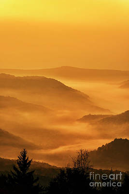 Allegheny Mountain Sunrise Vertical Poster