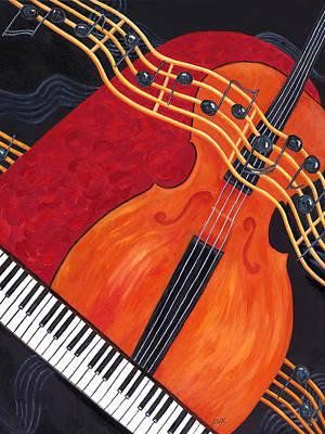 Poster featuring the painting Allegro by Karen Zuk Rosenblatt