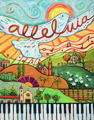 Alleluia Poster by Jen Norton