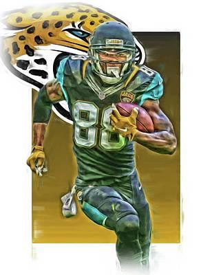 Allen Hurns Jacksonville Jaguars Oil Art 2 Poster by Joe Hamilton
