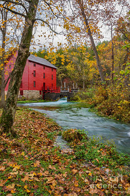 Alley Mill In Autumn Poster