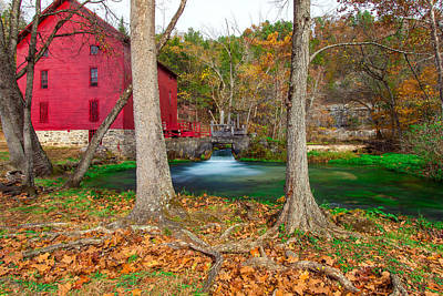 Alley Spring Mill Poster by Jackie Novak