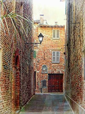 Alley View 3 Citta Della Pieve Umbria Poster by Dorothy Berry-Lound