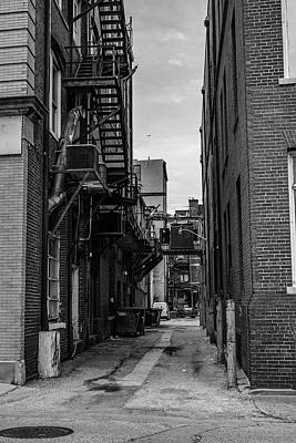 Poster featuring the photograph Alleyway II by Break The Silhouette