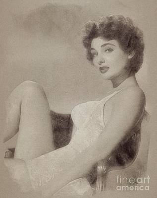 Allison Hayes, Vintage Actress And Pinup Poster