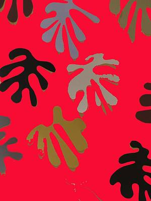Allusion To Matisse Red Poster by Helen Eging