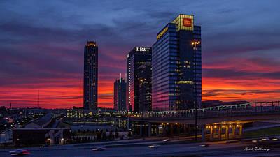 Almost Night Atlanta Midtown Cityscape Art Poster by Reid Callaway