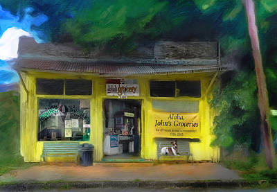 Aloha John's In Liliha Poster by Patrick J Gallagher