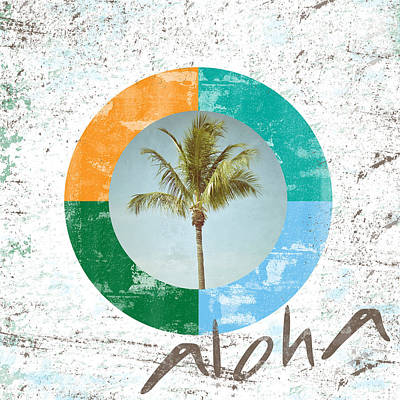 Aloha Palm Tree Poster by Brandi Fitzgerald