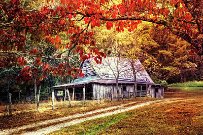 Along The Backroads Poster by Debra and Dave Vanderlaan