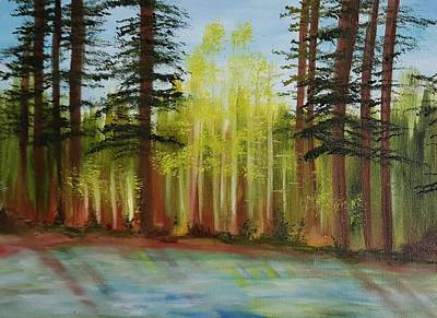 Along The Blackfoot Poster by Cheryl Nancy Ann Gordon