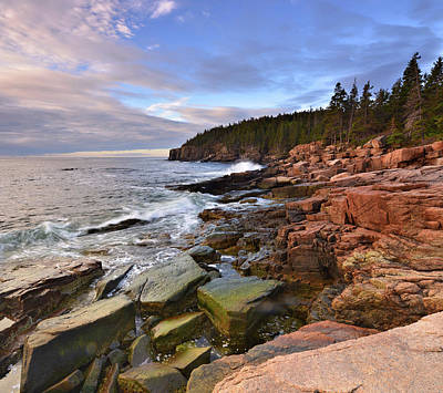 Poster featuring the photograph  Along The Maine Coastline by Stephen  Vecchiotti
