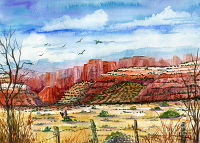 Along The New Mexico Trail Poster by Marilyn Smith