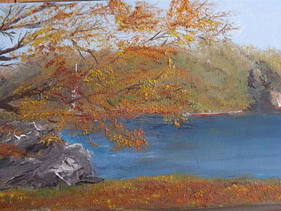 Along The Susquehanna Poster by Jacqueline Whitcomb