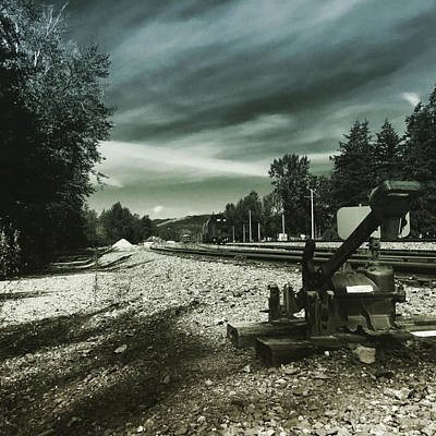 Along The Tracks Poster by K Simmons Luna