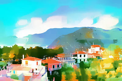 Alonissos In Colour Poster by Tom Gowanlock