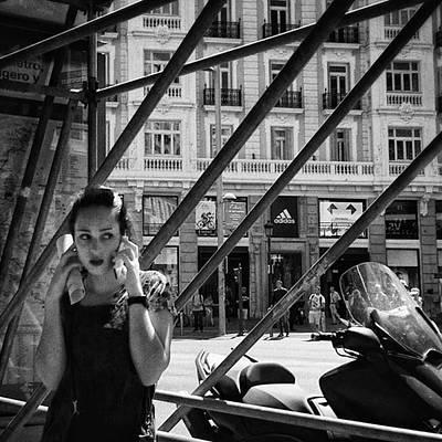Alo?  #girl #woman #portrait Poster by Rafa Rivas
