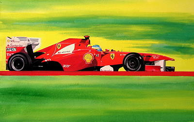 Alonso Ferrari Watercolour Poster