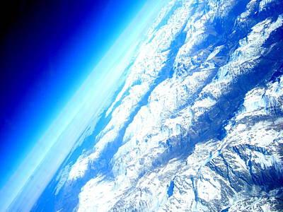 Alpen From Sky Poster