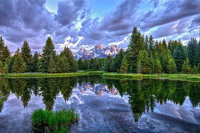 Alpenglow In The Tetons Poster