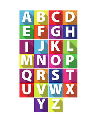 Alphabet Poster by Samuel Whitton
