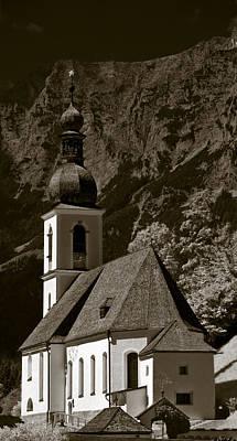 Alpine Church Poster by Frank Tschakert
