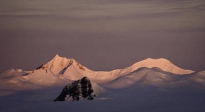Alpine Glow - Antarctica Poster
