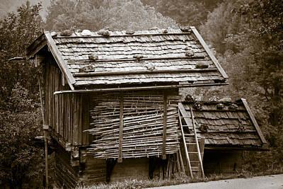 Alpine Hut Poster by Frank Tschakert