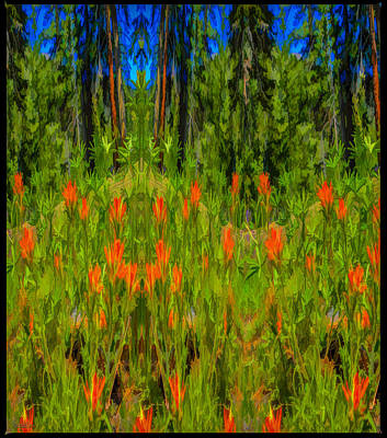 Alpine Indian Paint Brush Critters  Poster by LeeAnn McLaneGoetz McLaneGoetzStudioLLCcom