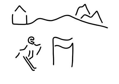 Alpine Skier Poster by Lineamentum