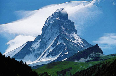 Poster featuring the photograph Alps by Artistic Panda