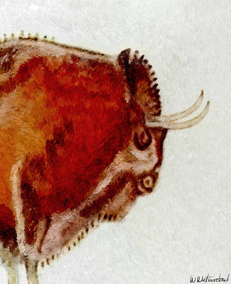 Altamira Prehistoric Bison Detail Poster