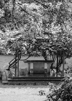 Altar In The Garden Poster