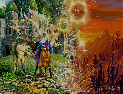 Poster featuring the painting Alter Terrain by Steve Roberts