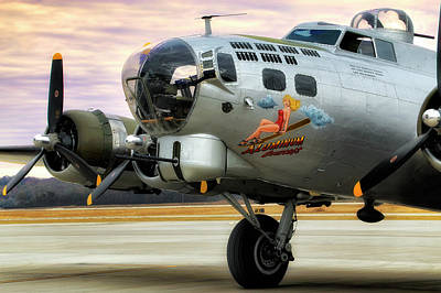 Poster featuring the photograph Aluminum Overcast - B-17 - World War II by Jason Politte